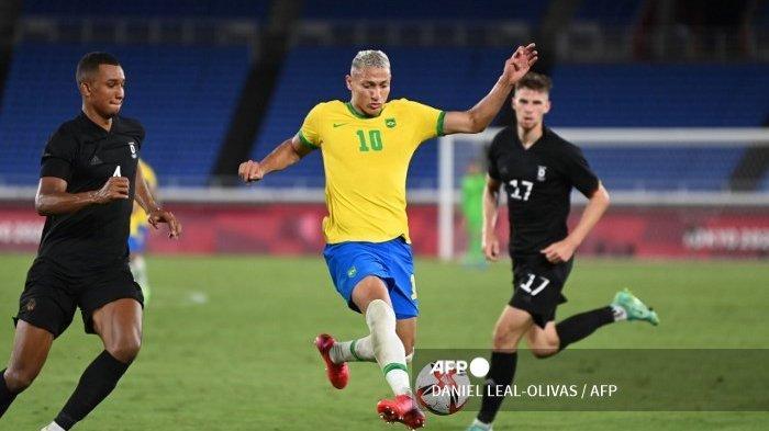 Brasil Sikat Jerman 4-2 di Olimpiade : Richarlison Hattrick, Jerman Nyaris Dapat Poin