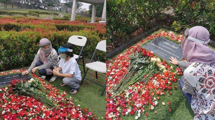 7 Bulan Kepergian Ashraf, Bunga Citra Lestari Tetap Rutin Ziarah dan Ajak Noah Berdoa Bersama