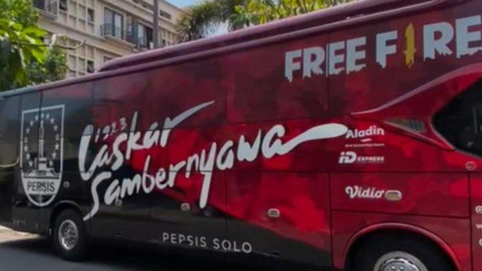 Tidak Lagi Pakai Bus Wisata, Persis Solo Kini Pakai Bus Official, Kaesang : Plat Hitam