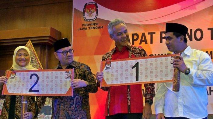 Hasil Rekapitulasi KPU Jateng, Ganjar-Yasin Unggul 3 Juta Suara atas Sudirman-Ida