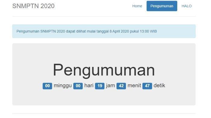 Kesulitan Akses Situs portal.ltmpt.ac.id? Ini Link Alternatif untuk Cek Pengumuman SNMPTN 2020