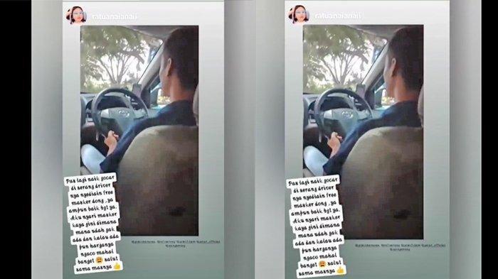 Viral Kisah Penumpang yang Disodori Masker Gratis oleh Sopir Taksi Online, padahal Langka Didapat