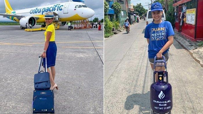 Kisah Pramugari Cantik Banting Setir jadi Penjual Elpiji Gara-gara Pandemi Corona: Saya Tidak Malu