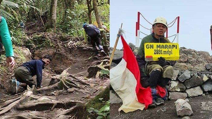 Kegigihan Penyandang Disabilitas Taklukan Gunung Marapi, Merangkak 3 Hari hingga ke Puncak