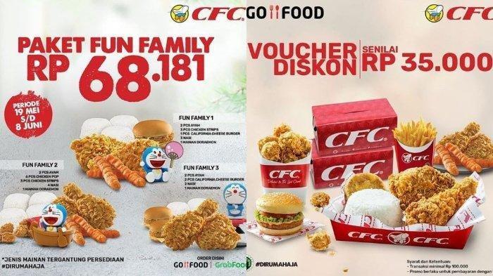 Promo CFC Paket Fun Family Cuma Rp 68.181, Ada Juga Voucher Rp 35 Ribu di GoFood