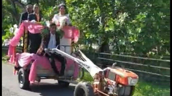 Viral Video Pasangan Pengantin di NTT Pilih Naik Traktor ke Gereja untuk Menikah, Ini Ceritanya