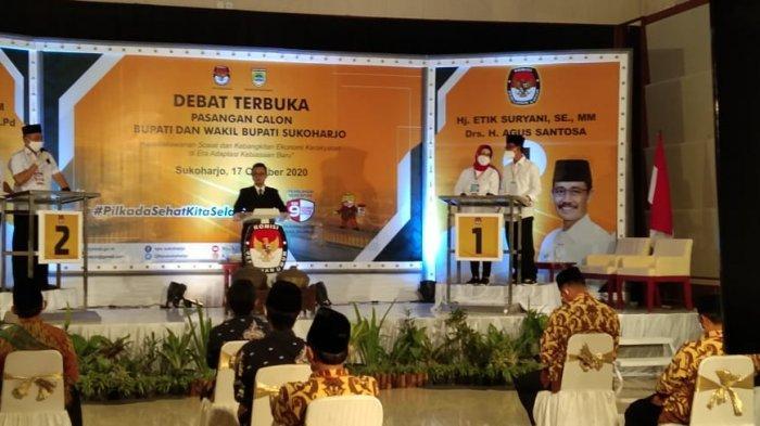 Debat Publik Pilkada Sukoharjo 2020 di Tengah Pandemi Corona, Tamu Dibatasi