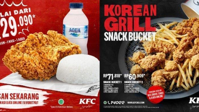 Promo KFC Periode Juni 2020: Paket Nasi Ayam Rp 29.090, Molten Cake Rp 22.727 per 6 pcs