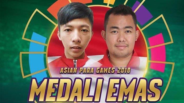 Asian Para Games 2018 - Bulu Tangkis Ganda Putra Persembahkan Emas ke-35, Indonesia Naik Posisi 5