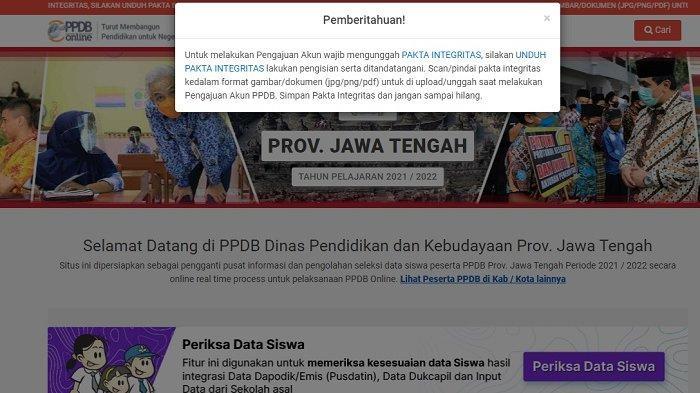 Link Pengajuan Akun PPDB Online 2021 untuk SMA dan SMK di Solo & Jateng, Sudah Dibuka Mulai Hari Ini