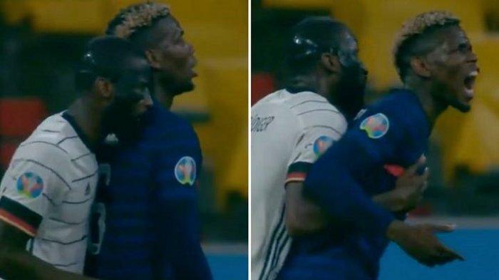 Rudiger bak Kerasukan Suarez di Laga Prancis vs Jerman, Terekam Kamera Gigit Pundak Paul Pogba