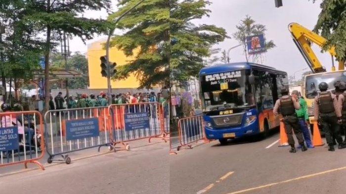Beredar Video Driver Ojek Online Berkumpul di Stasiun Purwosari, Begini Penjelasan Satgas Gojek Solo