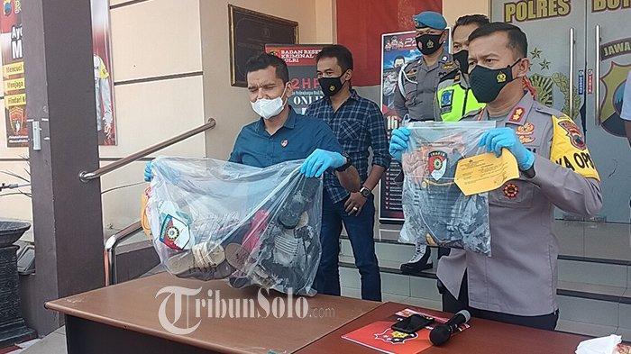 Kapolres Boyolali AKBP Morry Ermond  saat menggelar jumpa pers terkait tragedi Kedung Ombo di Mapolres Boyolali, Selasa (18/5/2021).