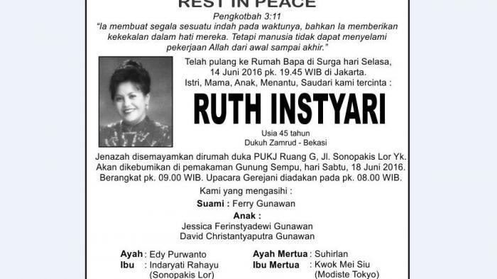Rest in Peace - Ruth Instyari