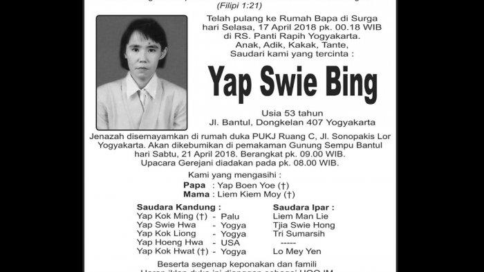 Rest in Peace - Yap Swie Bing