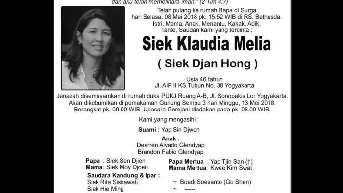 Rest in Peace - Siek Klaudia Melia