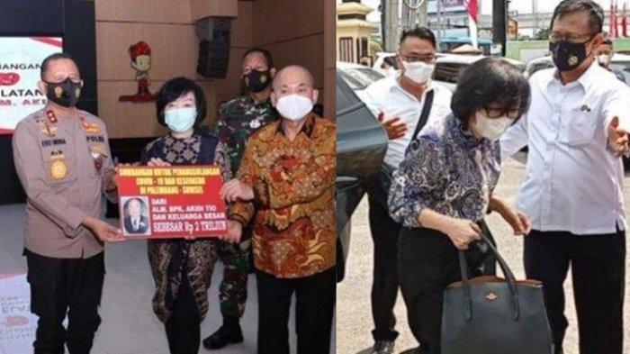 Dwi Anggraini Heriyanti anak Akidi Tio dibawa ke Mapolda Sumsel gara-gara kasus dugaan hoax bantuan Rp 2 triliun.