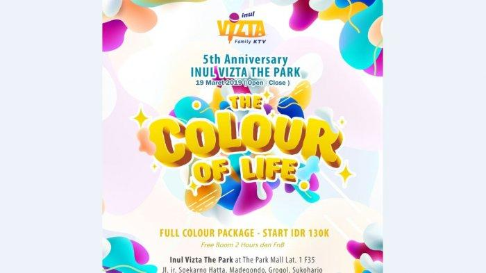 HUT ke-5 Inul Vizta The Park Mall Solo Baru Bertema The Color of Life #menjemputrejeki2019