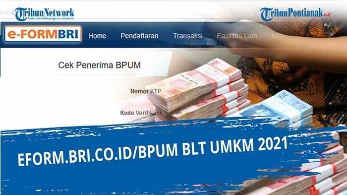 Cara Mengecek BLT UMKM 2021 Rp 1,2 Juta Sudah Cair, Simak Tahapan Ceknya di eform.bri.co.id/bpum