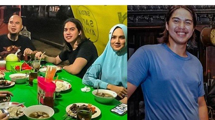 El Rumi bareng Mulan Jameela dan Ahmad Dhani makan di pinggir jalan