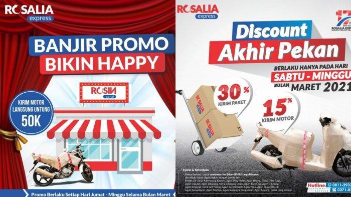 Promo Besar-besar di Rosalia Express : Kirim Motor Diskon 15 Persen, Apalagi Paket Capai 30 Persen