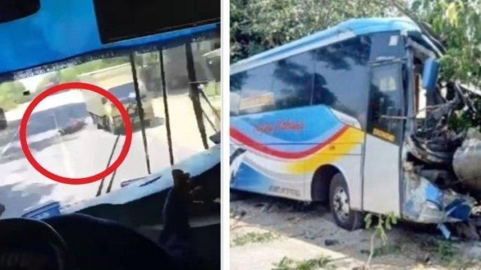 Viral Video Detik-detik Kecelakaan Bus Sugeng Rahayu di Madiun, Penumpang Teriak Astagfirullah