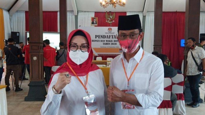 Bakal Pasangan Calon (Paslon) Bupati dan Wakil Bupati Sukoharjo, Etik Suryani dan Agus Santosa (EA).