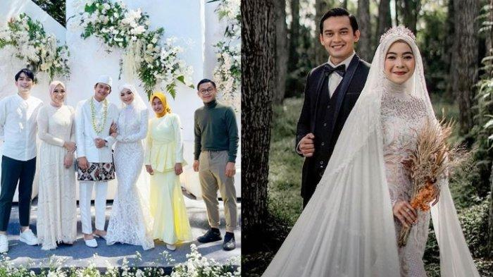 Foto-foto pernikahan Ikbal Fauzi dan Novia Giana.