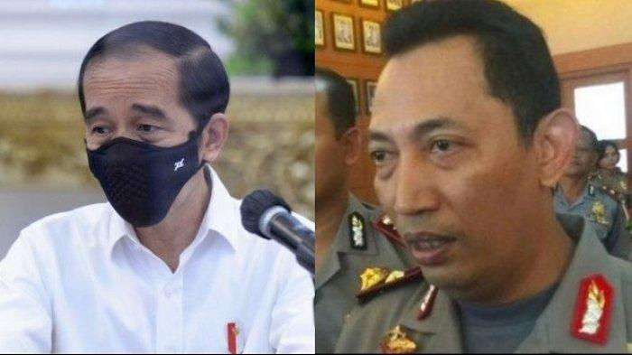 Foto Kolase: Presiden RI Joko Widodo alias Jokowi dan Kabareskrim Komjen Listyo Sigit Prabowo
