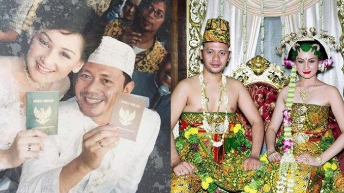 Foto pernikahan Mona Ratuliu dan Indra Brasco.