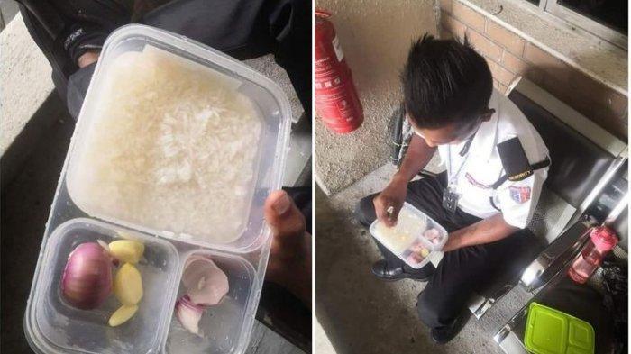 Viral Satpam Makan dengan Lauk Bawang, Ternyata 90 Persen Gajinya Diberikan untuk Keluarga