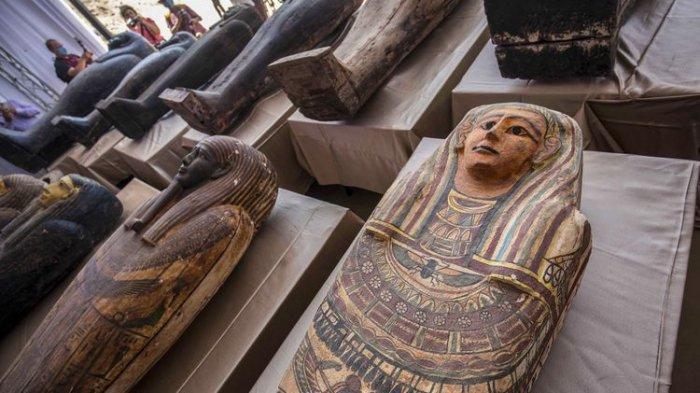 Penampakan 100 Peti Mati Kuno di Mesir: Ada Mumi, Sudah Terkubur 2500 Tahun Lalu