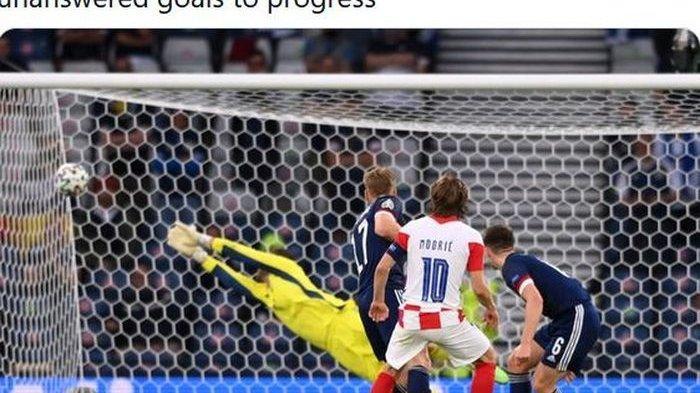 Di Balik Lolosnya Kroasia Temani Inggris di Euro 2020 : Gol Ajaib Luka Modric Jadi Trending Topik