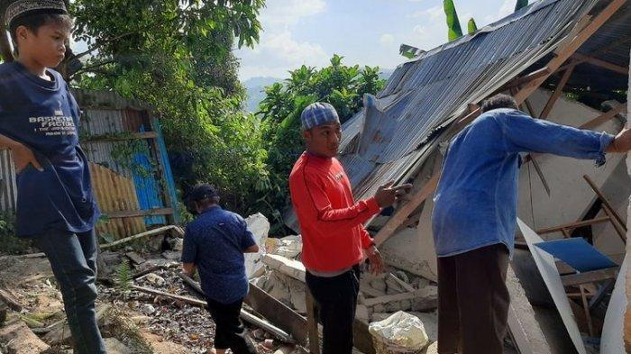 Gempa Magnitudo 4,5 Mengguncang Kota Ambon, Rumah SeorangBabinkantibmas Ambruk