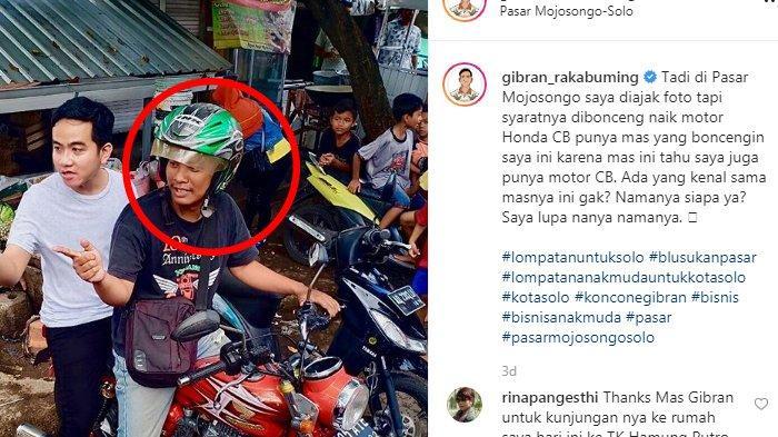 Pria yang Dicari-cari Gibran di Instagram Akhirnya Buka Suara, Berawal Satu Celetukan soal Motor CB