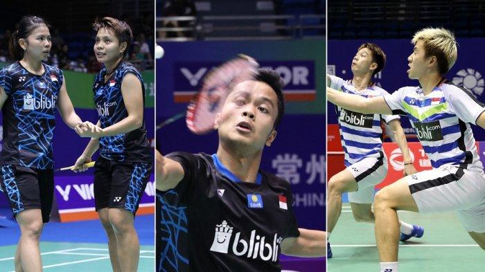 Hari Ketiga BWF World Tour Finals 2018, Laga Penentu untuk 6 Wakil Indonesia ke Semifinal
