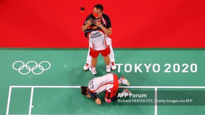 Rayakan Kemenangan Greysia dan Apriyani di Olimpiade Tokyo 2020, Erick Thohir Janjikan Hadiah