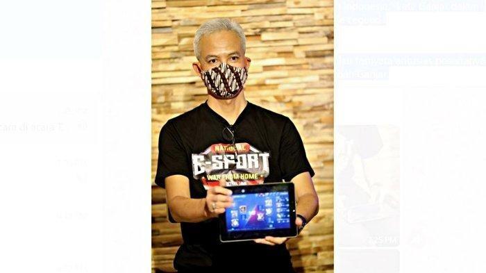 Aksi Ganjar Pranowo Main Mobile Legend, Menang Match Pakai Tank Hero Gatokaca