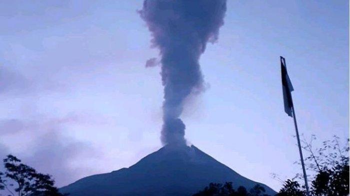 Gunung Merapi Kembali Erupsi Kamis Sore Ini, Masyarakat Diimbau Antisipasi Jika Terjadi Hujan Abu