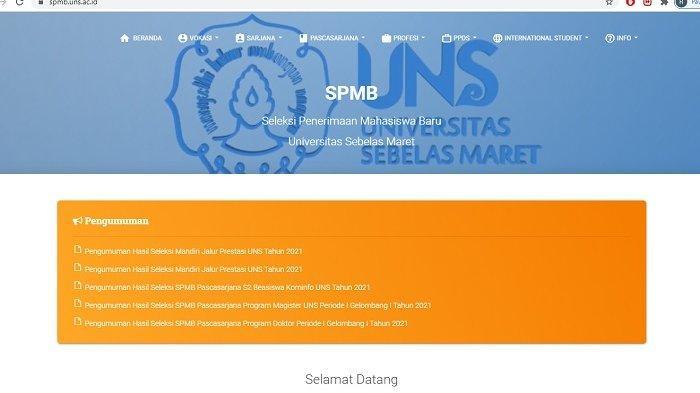 Link Pengumuman SBMPTN UNS Solo 2021 : Catat, Jangan Lupa Nomor Pendaftaran hingga Tanggal Lahir