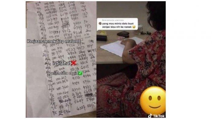 Viral Seorang Nenek Punya Hobi Unik Catat Data Kasus Covid-19 Indonesia, Ternyata Begini Faktanya