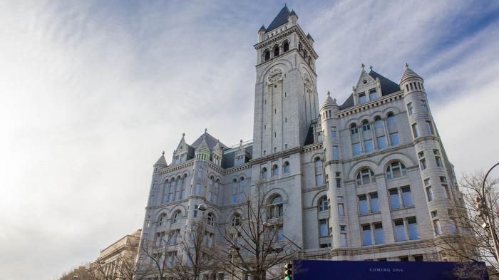 Tarif Sewa Kamar Paling Murah di Hotel Milik Donald Trump Dekat Gedung Putih Senilai Rp 9,2 Juta