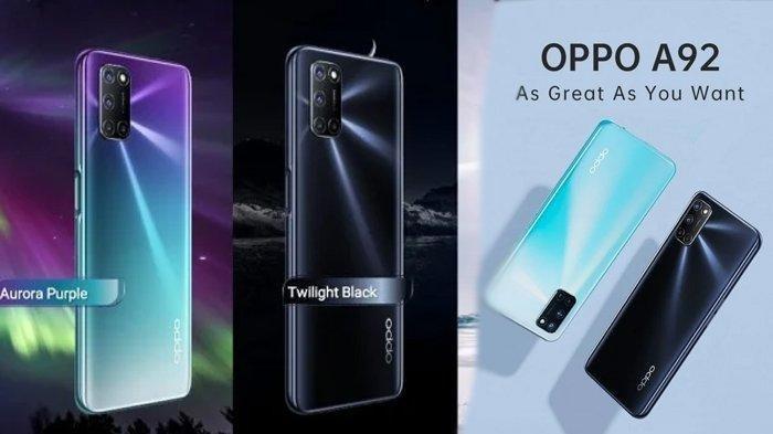 Harga HP Oppo A92 Terbaru Juli 2020, Mulai Rp 3,9 Jutaan dan Ini Spesifikasi Lengkapnya