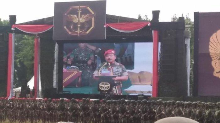 Pidato di HUT ke-67 Kopassus, Panglima TNI Bicara soal Loyalitas Prajurit kepada Pimpinan