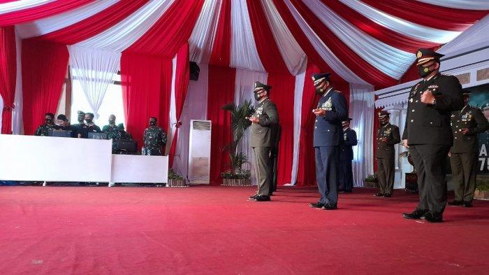 HUT TNI Ke-75 Digelar Secara Virtual di Korem 074/Warastratama Solo, Begini Penampakannya