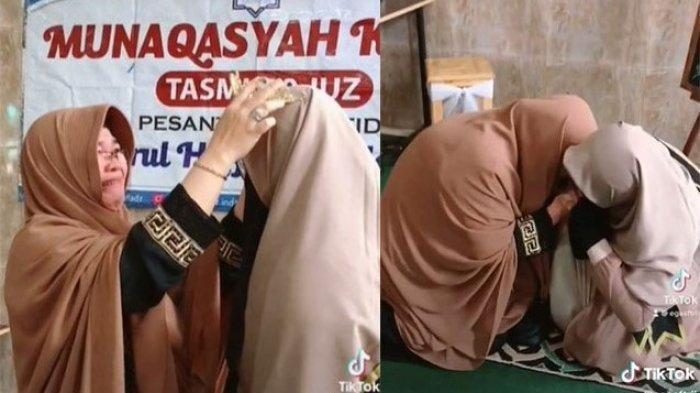 Viral Ibu Menangis dan Ingin Cium Kaki Anaknya, Ternyata Sang Anak Berhasil Hafalkan 30 Juz Al-Quran