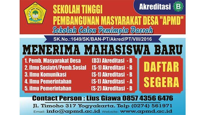 Sekolah Tinggi Pembangunan Masyarakat Desa APMD Yogyakarta : Sekolah Calon Pemimpin Daerah