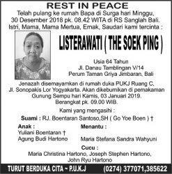 Rest in Peace - Listerawati (The Soek Ping)