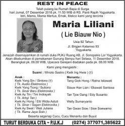 Rest in Peace - Maria Liliani ( Lie Biauw Nio )