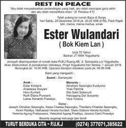 Rest in Peace - Ester Wulandari (Bok Kiem Lan)